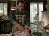 Modern Family S06E08 Three Turkeys Phil Dunphy Ty Burrell Nigella Lawson