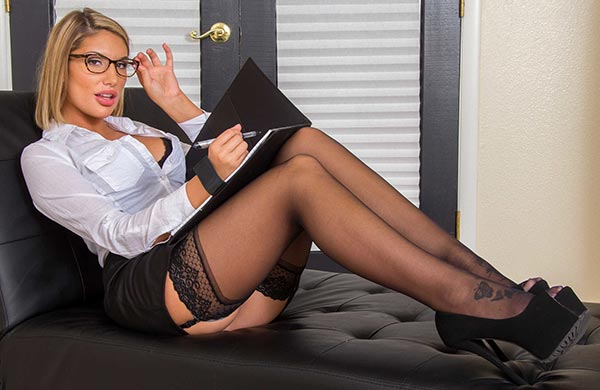 August Ames Naughty America office